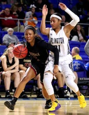 Riverdale's Alasia Hayes (1) averaged 13.5 points, 6.8 rebounds and 3.3 assists last season.