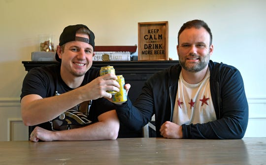 """Kent Peterson and his brother-in-law Jeff Capeling host the """"Bring Dad a Beer"""" podcast, a colorful production by the stay-at-home dads in which they detail crazy family stories, rate beers they drink while recording and discuss pop culture trends."""