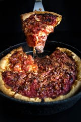 Gino's East has been serving deep-dish pizza since 1966.