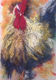 """""""Wonder Rooster,"""" Wonder Rooster by Letizia DelVecchio, Marco Island Center for the Arts"""