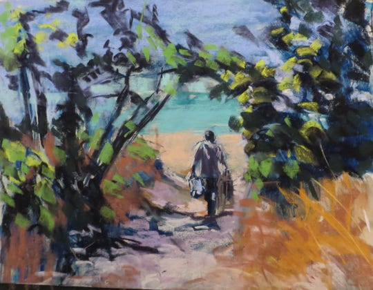 """""""To the  Beach!"""" Marianne Crowley, Marco Island Center for the Arts"""
