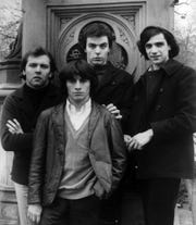 Eddie Brigati in front of his fellow Rascals, with Gene Cornish, from left, Dino Danelli and Felix Cavaliere, in a 1966 Atlantic Records promotional photo.