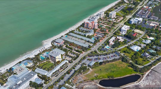Google Earth Image shows Naples Beach Hotel & Golf Club along side of Gulf Shore Blvd. North.