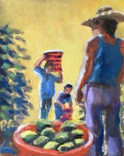 """Immokalee Harvest,"" Paul Arsenault, Roberts Ranch Museum"