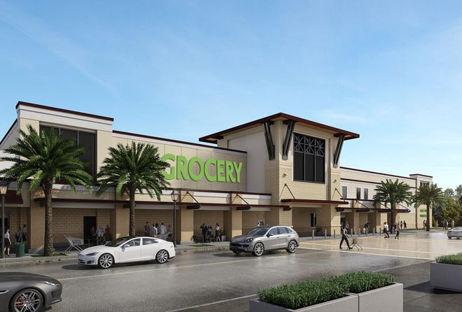 Crescent B Commons shopping center, will be anchored by a major grocery store.