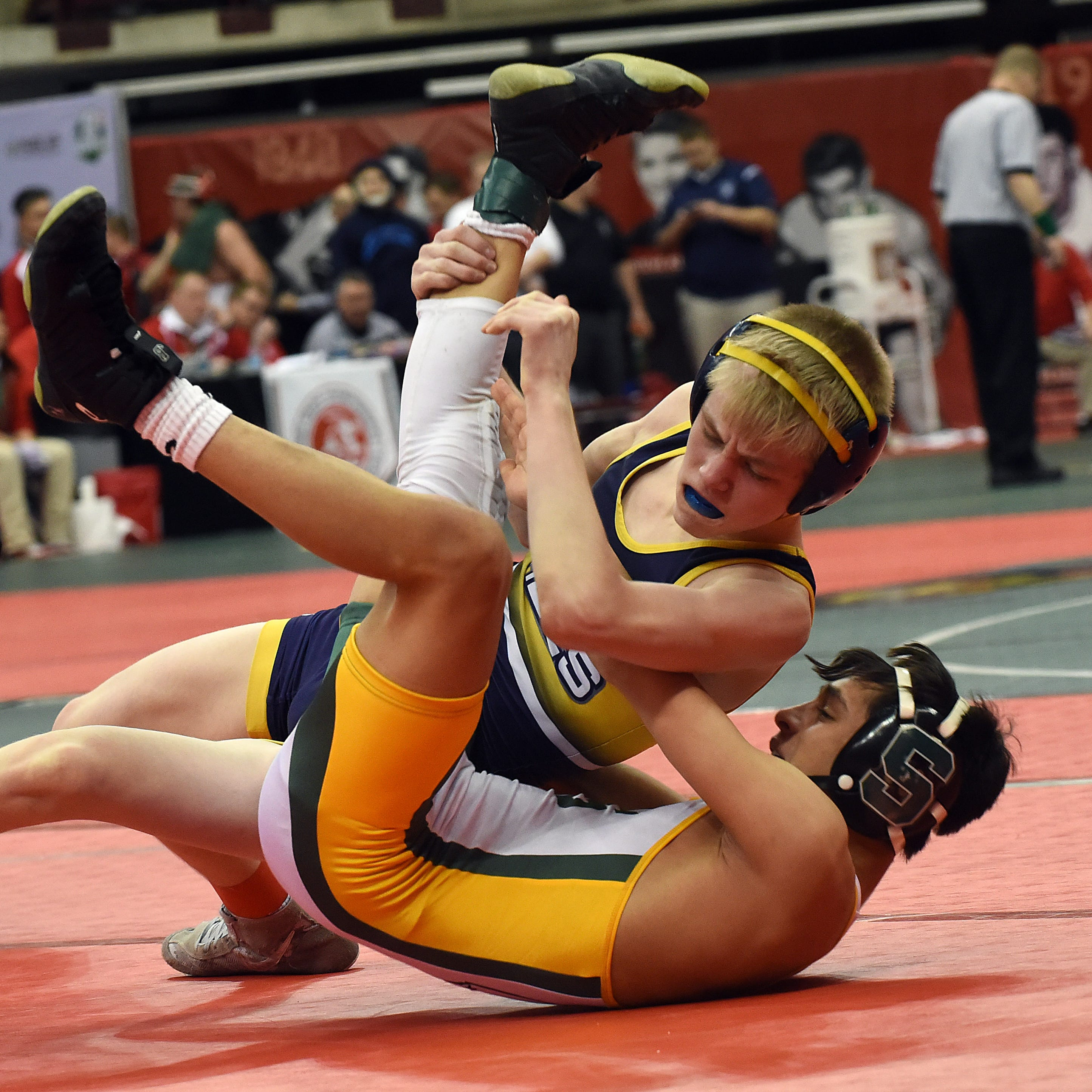 Lancaster's Hutsler, Agin brothers pick up first-round state tournament wins