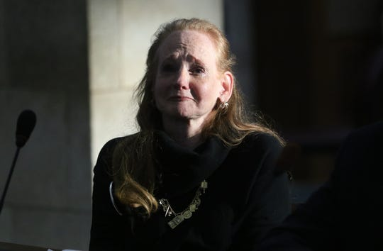 Dr. AnneMarie Riether, broke her silence of more than 45 years to speak publicly about the abuse she endured at the hands of a priest when she was 15 and 16. Thursday, March 7, 2019