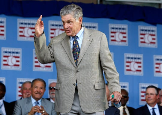Tom Seaver, shown in 2015, arrives at the National Baseball Hall of Fame to participate in an induction ceremony.