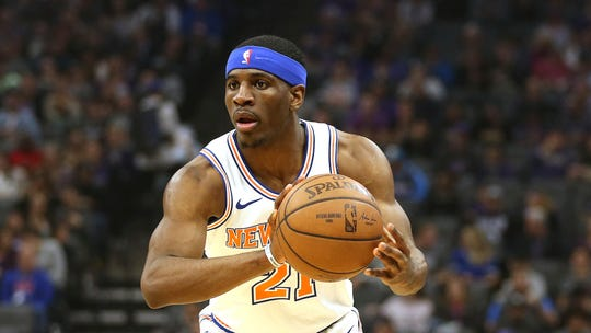 Knicks guard Damyean Dotson shot 36.3 percent from three-point range last season. Where he fits in the rotation going forward remains to be seen.