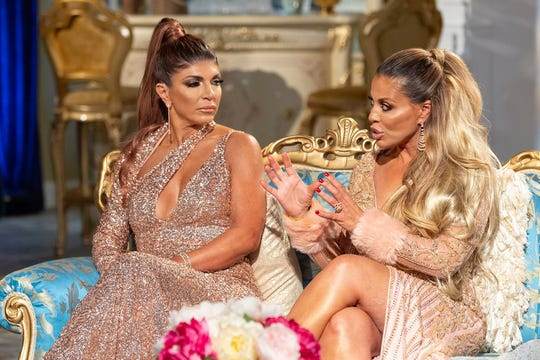 "Teresa Giudice and Dolores Catania on ""The Real Housewives of New Jersey"" Season 9 reunion."