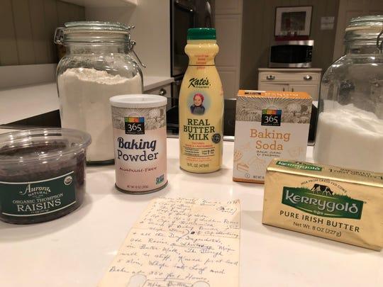 Ingredients for Julia O'Neill's Irish soda bread
