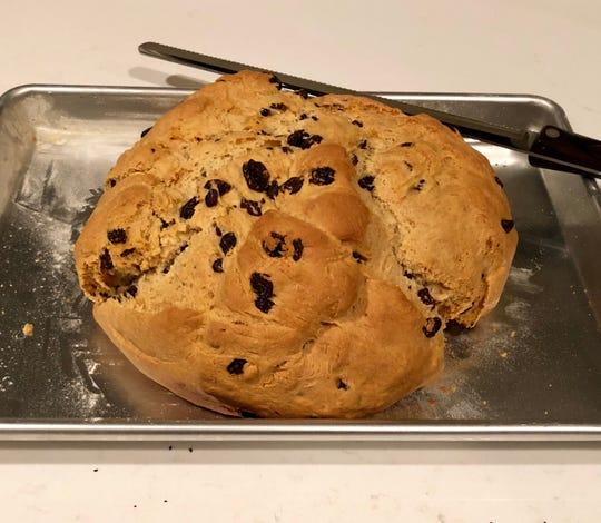 A loaf of Julia O'Neill's Irish soda bread