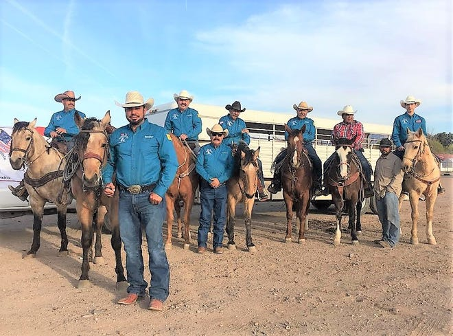 """Deming resident Manuel Perez, 47, (in foreground) and his """"Caporales de Villa"""" cavalry members are ready to saddle up and set out to Columbus this weekend to promote goodwill between the U.S. and Mexico during the annual celebration, """"Fiesta de Amistad."""""""