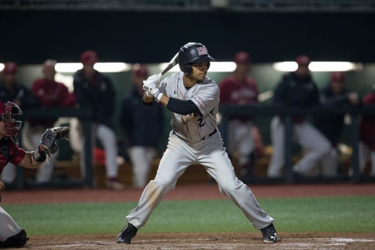 Nick Gonzales, pictured, and the New Mexico State baseball team begin their 2020 season on Friday at 3 p.m. with a home game against Texas Southern.