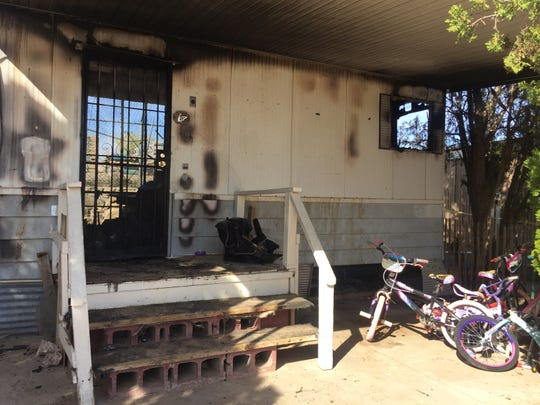 A fire destroyed a mobile home Tuesday, March 5, 2019, on 1700 W. Hadley Ave.