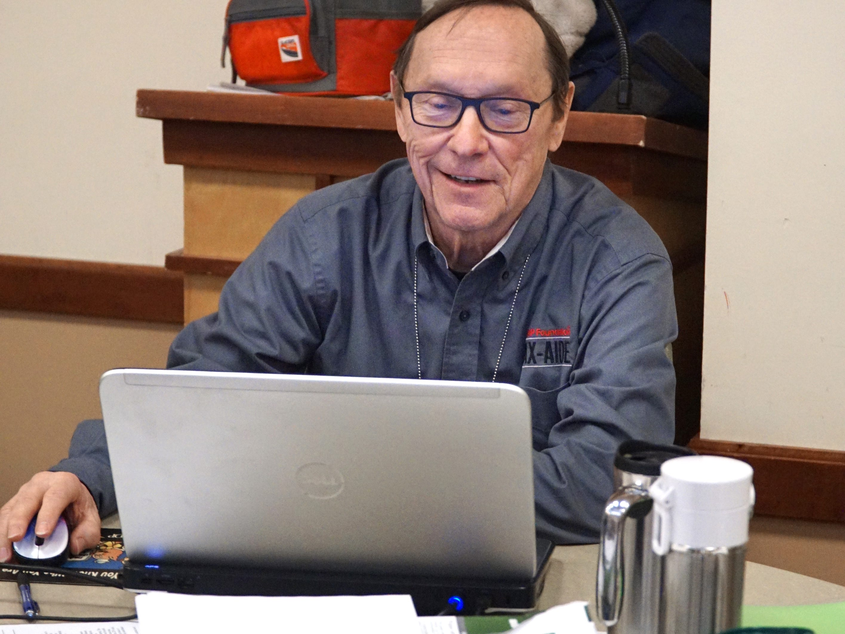 Don Bain was one of many AARP volunteers on hand on March 7 to help tax filers.