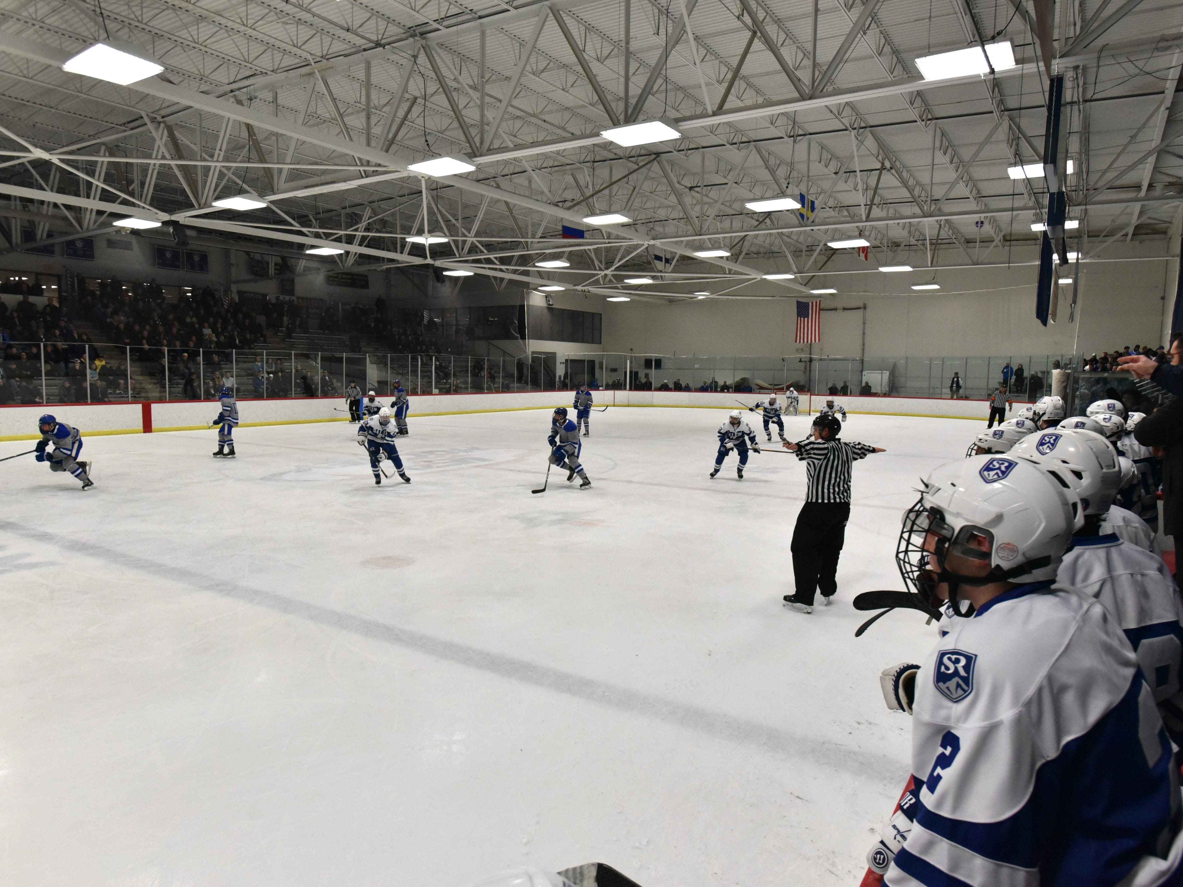 The MHSAA quarterfinal was played at the Ann Arbor IceCube.