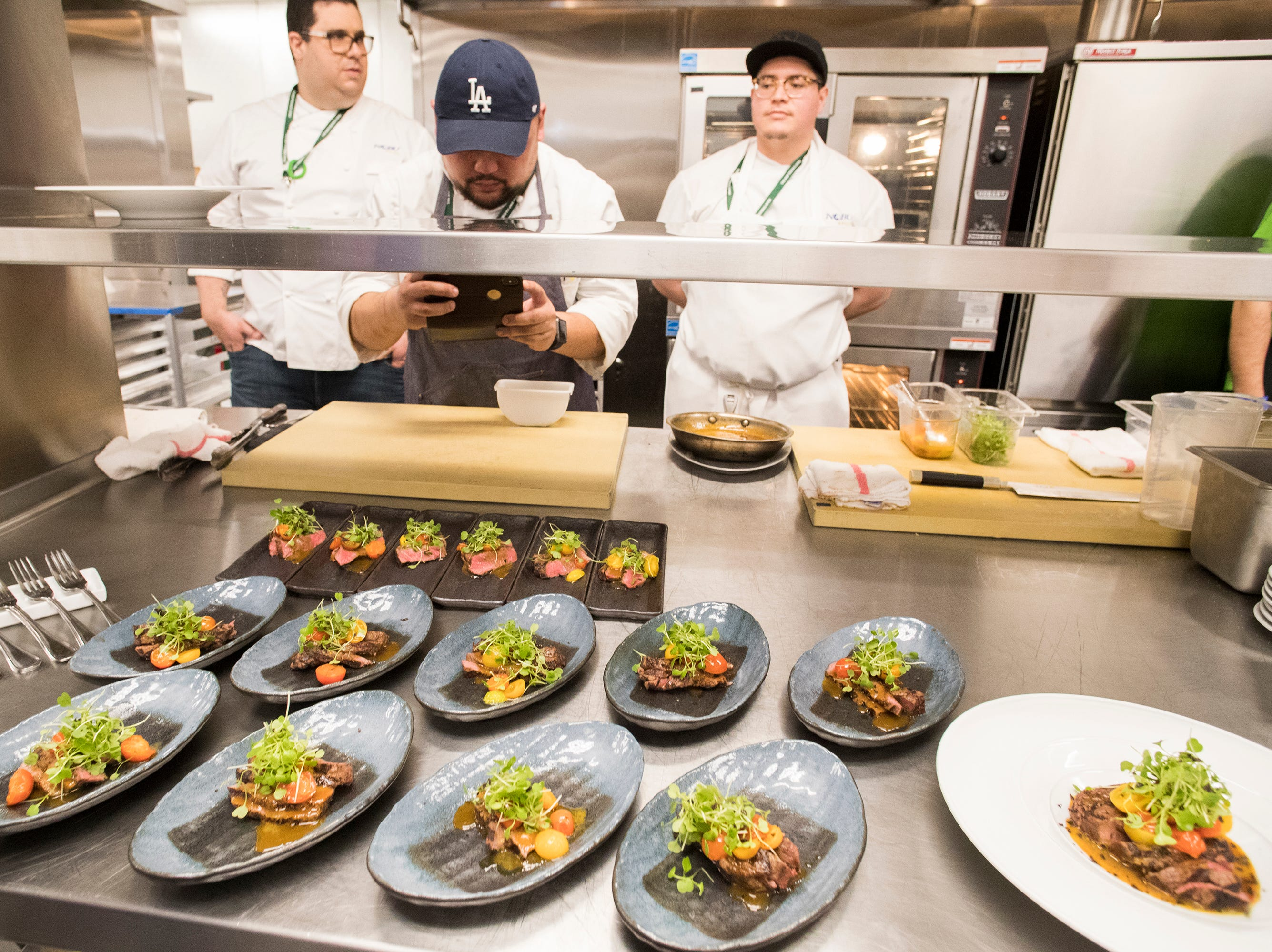 Nobu restaurant offers food at the 2019 BNP Paribas Open at the Indian Wells Tennis Garden.