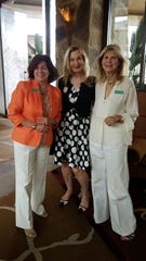(left to right) Roxanna Sorenson, guest greeter Marcella Ruble and Barbara Nelson.