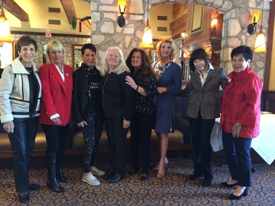 (left to right) Executive board members Carol Glickman, Susan Reilly, Lori Argovitz, Founder Christy Porter, Friends of Hidden Harvest President Dee Brown, Nancy Skonezny, Amy Ashman and Barbara Stenzler.