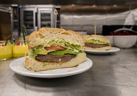 """The """"Juan Martin Del Potro Milanesa Sandwich"""" is available at the 2019 BNP Paribas Open at the Indian Wells Tennis Garden."""