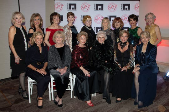 The Casino Royale Event Committee. Front row (left to right): Mary Swink, Diane Dykema, Marge Barry, Mary Latta, Peggy Donohue-Berk and Nancy Stone. Back row (left to right): Jayne Lyons, Barbara Rogers, Gail Houghton, Terri Neuman, Beverly Schow, Susan Gelman, June Benson, Gloria Alvarez and Marge Dodge.