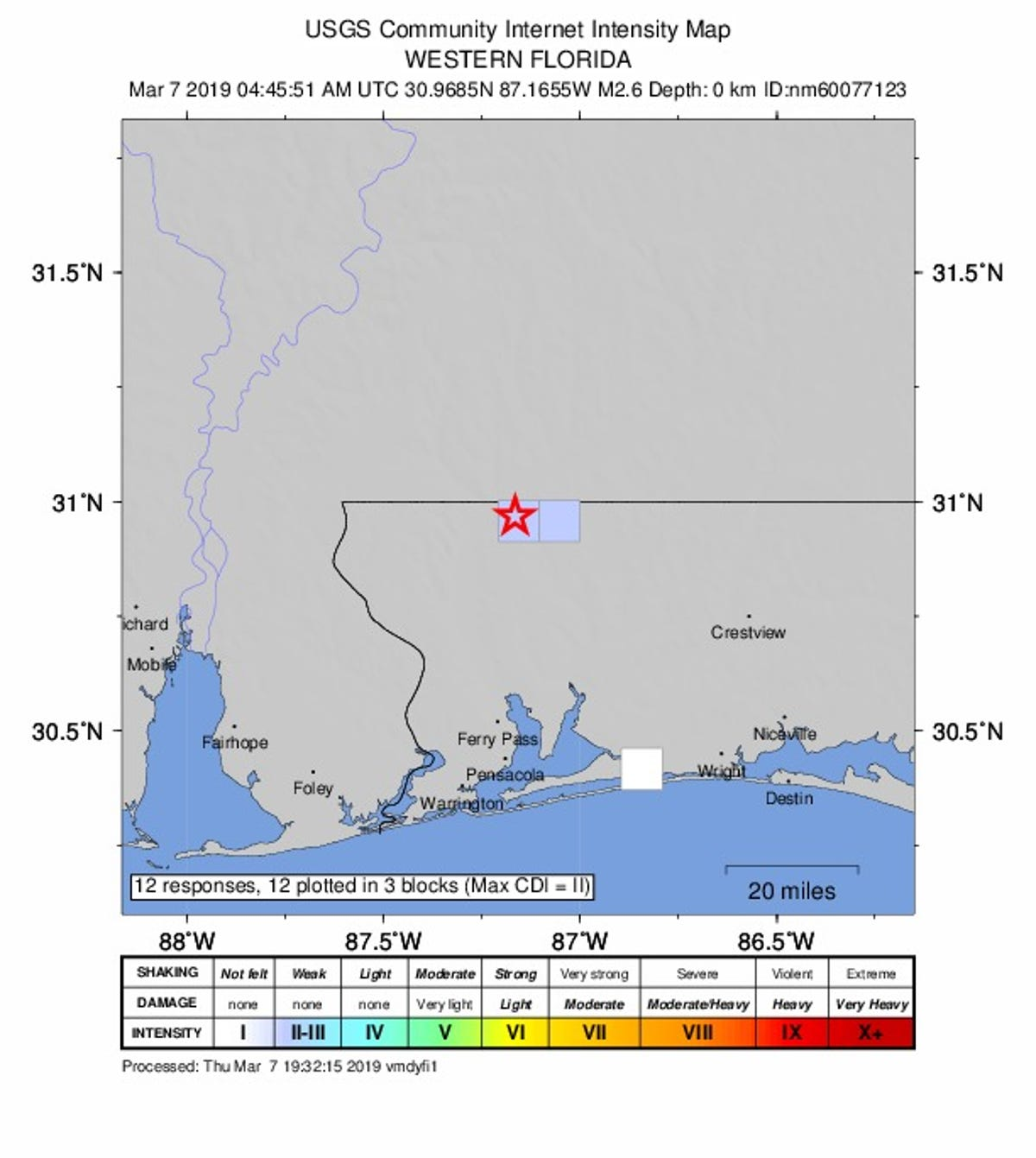 Third Earthquake Reported Near Florida Alabama Line Rumble On