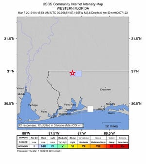 A 2.6 magnitude earthquake hit northeast of Jay on Wednesday night