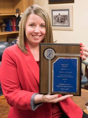 Assistant State Attorney Cierra Burns has been awarded the Sentinel Award from the Florida Animal Control Association for outstanding work on animal cruelty prosecutions.She has prosecuted between 20 to 30 crueltycases in Escambia and Santa Rosa counties alone since 2011.