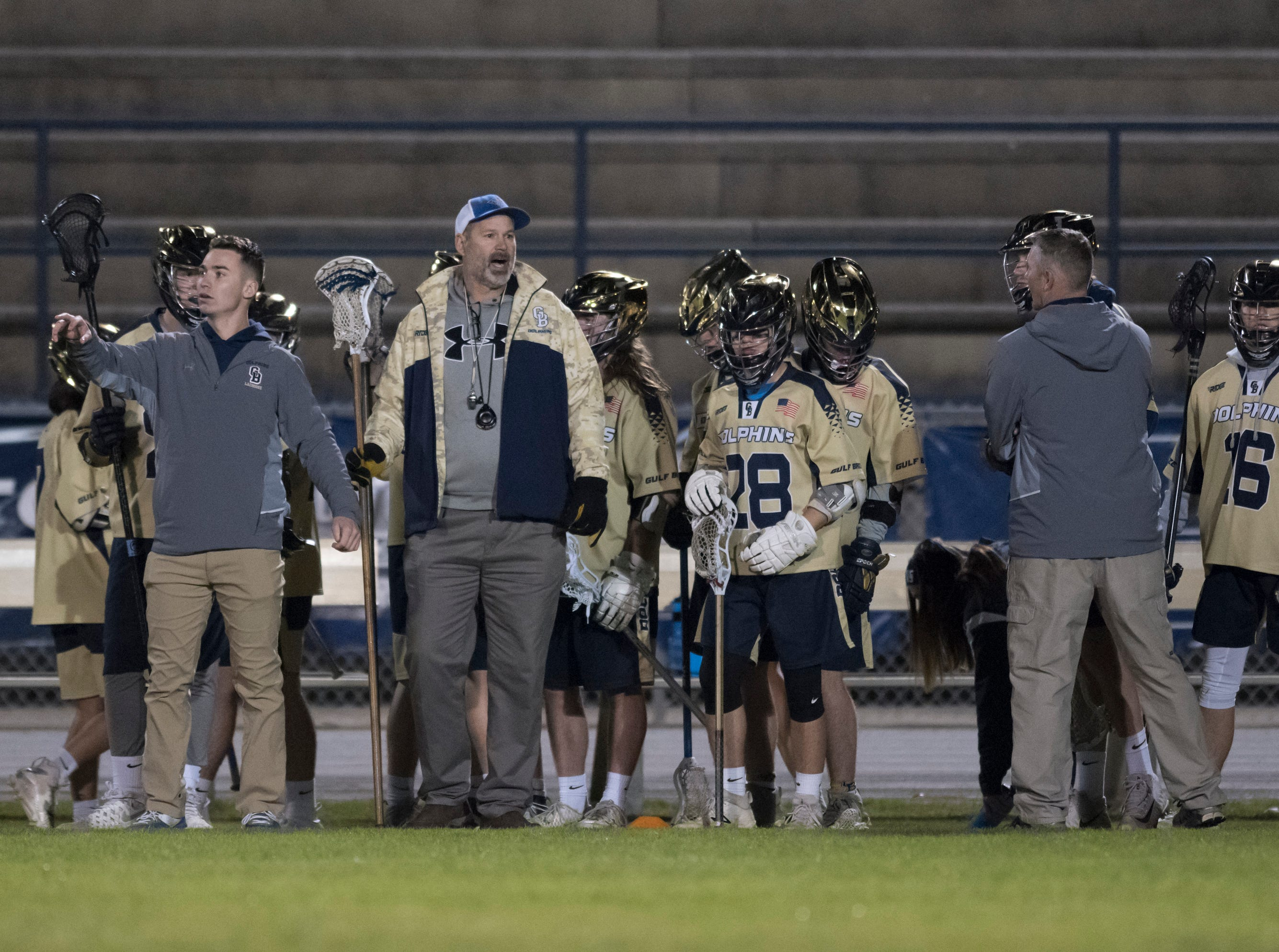 Catholic vs. Gulf Breeze boys lacrosse game at Gulf Breeze High School on Wednesday, March 6, 2019.