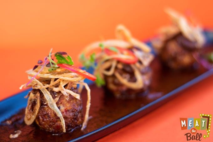 Spicy Sausage meatballs with Barbeque Sauce