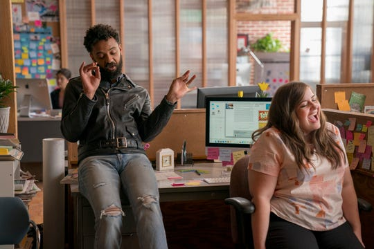 """Ian Owens and Aidy Bryant star in """"Shrill."""""""