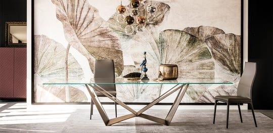 Skorpio dining table by Cattelan Italia, wood or glass