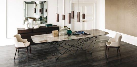 Gordon Keramik dining table by Cattelan Italia