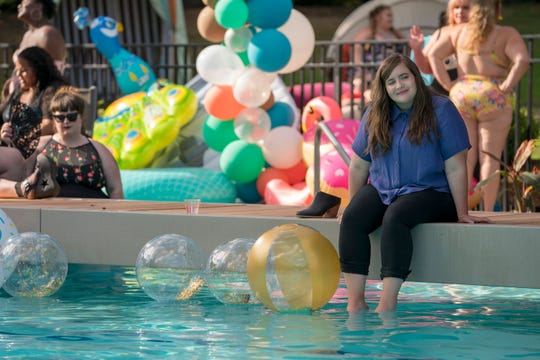 """""""Watching myself on-screen be very vulnerable is not comfortable,"""" Aidy Bryant says of her work in """"Shrill."""""""