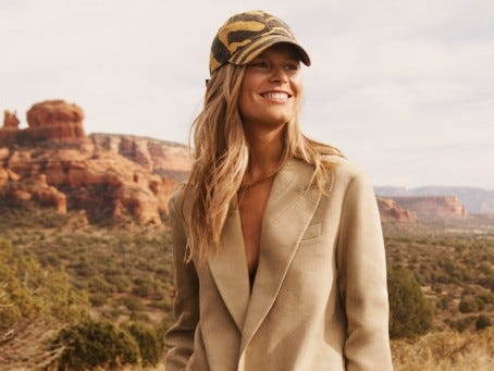 "The H&M Studio line was inspired by ""images of mineral pools, some of which were in Sedona,"" according to a spokeswoman."