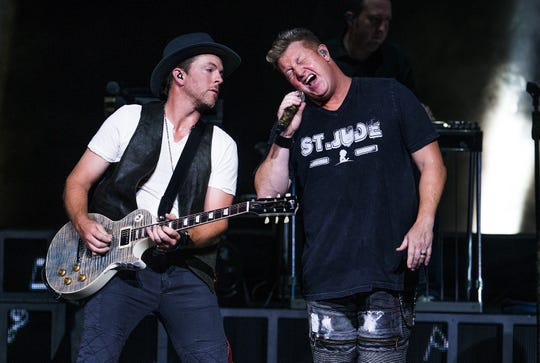 Rascal Flatts performs at Ak-Chin Pavilion in Phoenix during the band's Rhythm & Roots Tour, Friday, July 16, 2016.