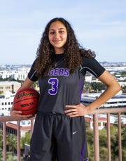 Alexandra Zelaya poses for the azcentral sports All-Arizona girls basketball team member photo at the Republic Media Building in Phoenix, Monday, March 4, 2019.