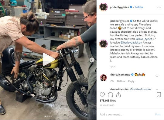 Jason Momoa was on his way to Phoenix to see Love Cycle, a motorcycle garage helping him build his dream bike