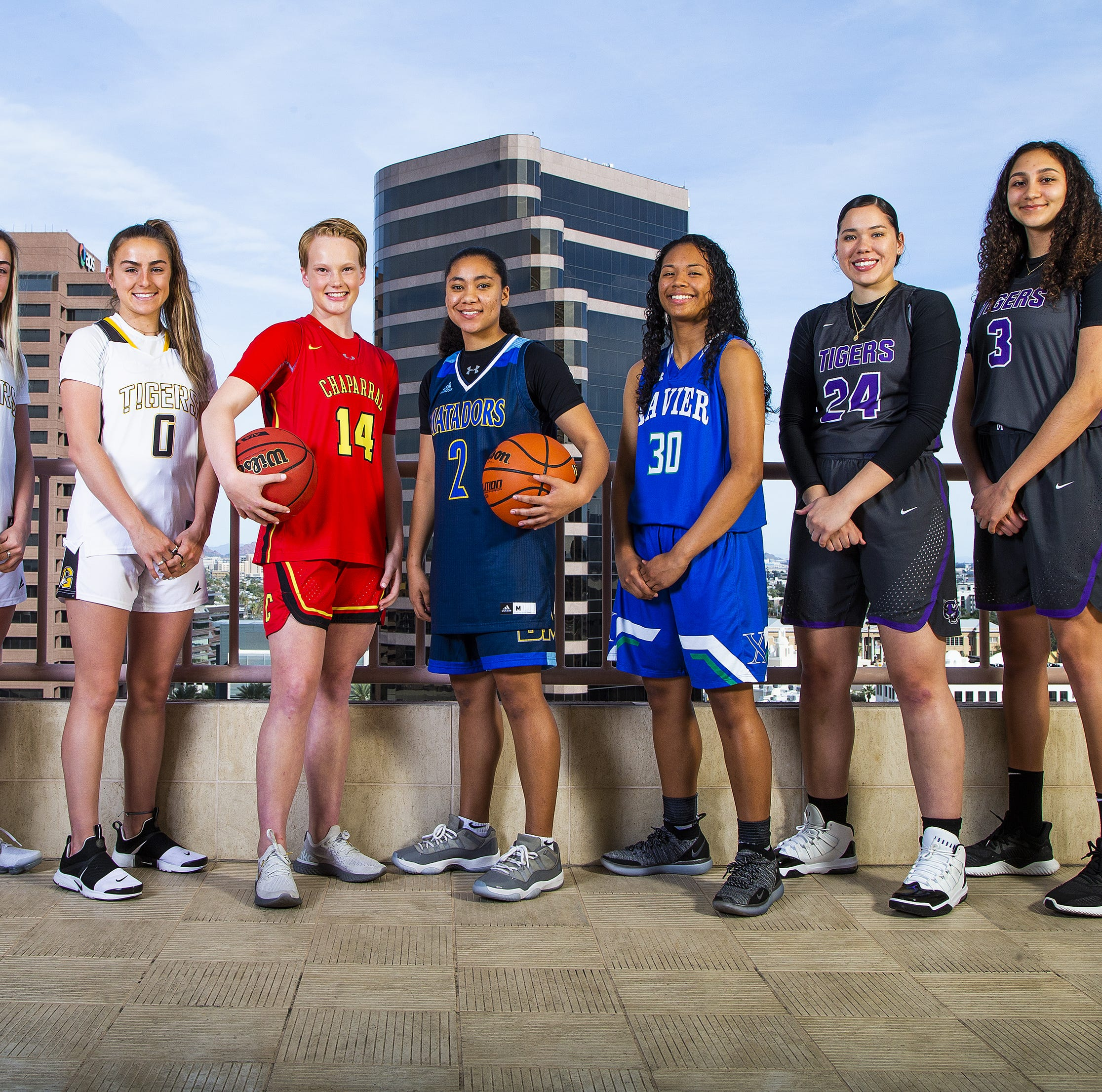 Arizona High School Girls Basketball Player of the Year finalists, All-Arizona team