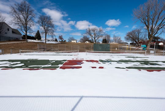 The west tennis court will change into a roller hockey and basketball court, utilizing existing fencing and basketball nets and adding boards and two hockey nets. The east court will continue to offer tennis, but fencing and a net suitable for pickleball will be added, as well as a new practice wall on the north fence.