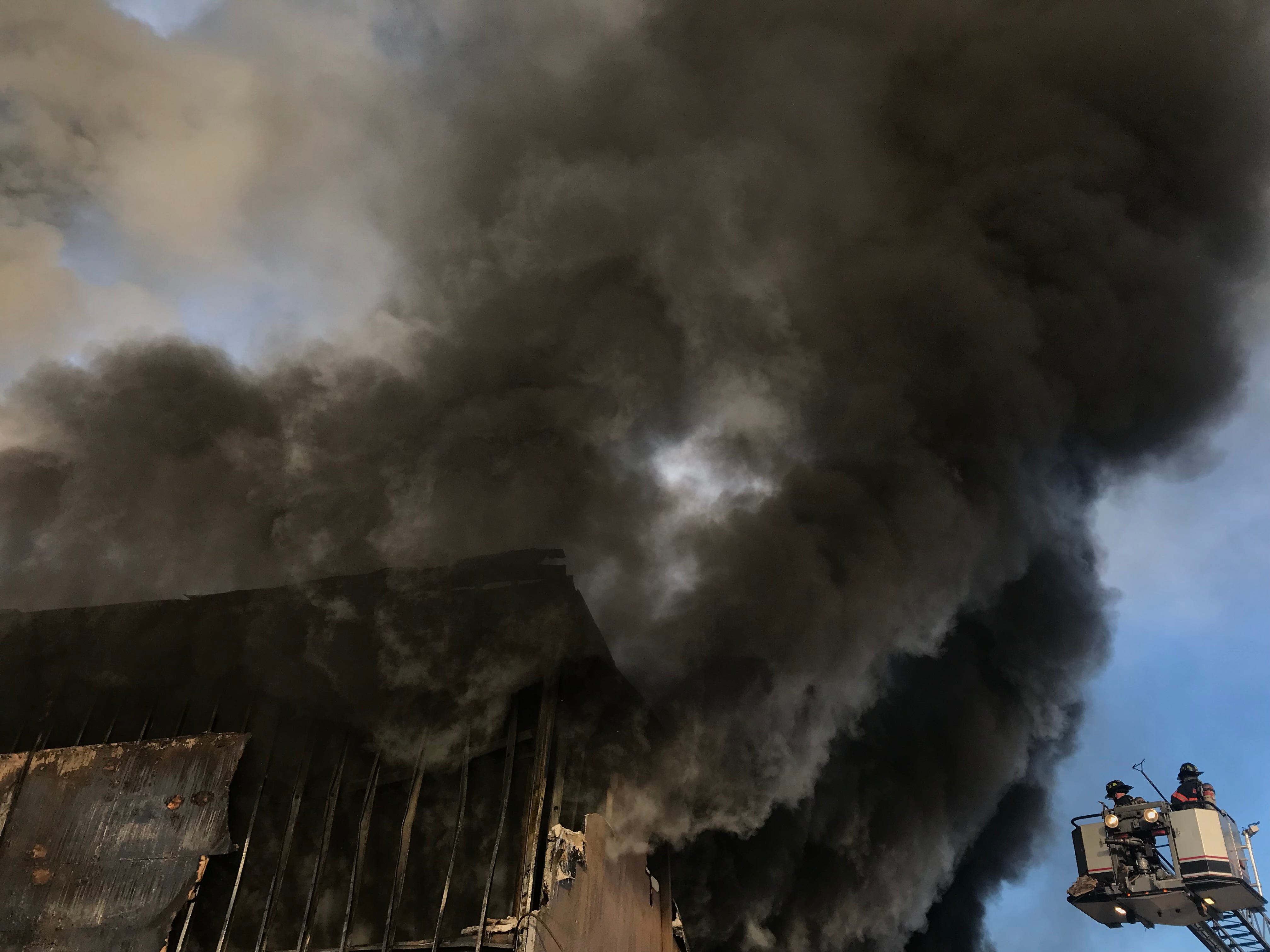 A fire damaged the Thomas Gleason excavation company in Poughkeepsie on Thursday.