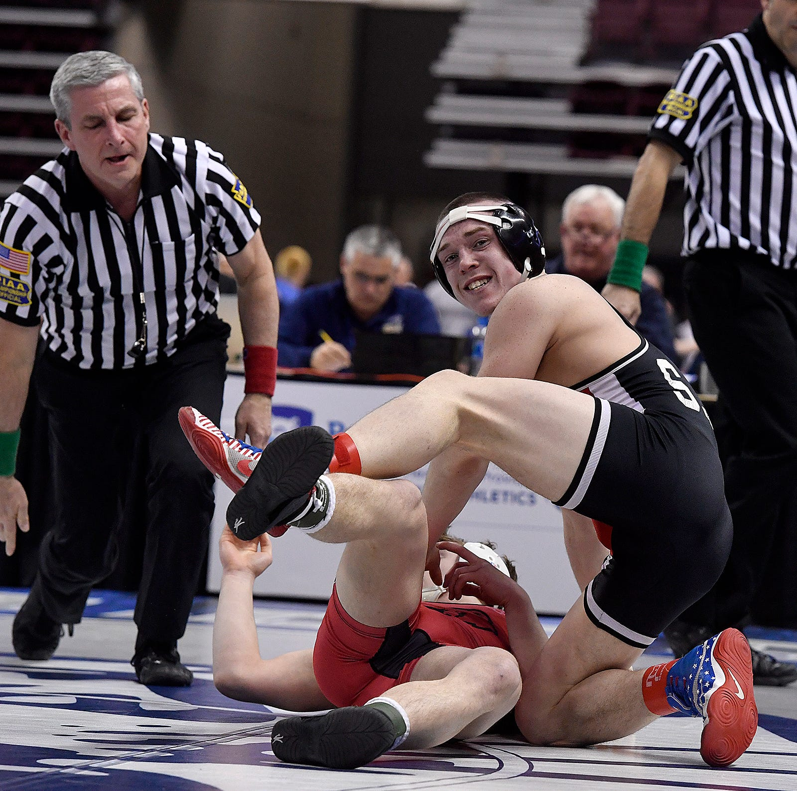 Susquehannock's Romjue highlights first day for Y-A League wrestlers at state championships