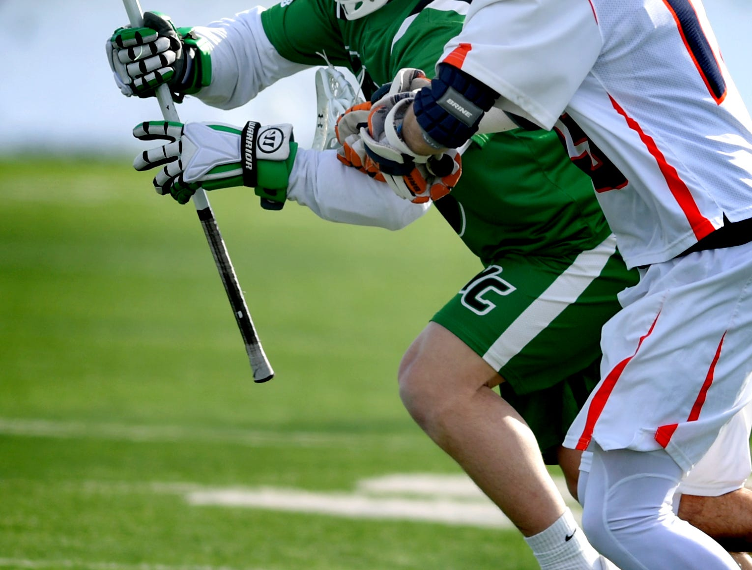 York College earns a 14-6 win over host Gettysburg College Wednesday, March 6, 2019. Both teams were ranked in the top 10 nationally in NCAA Division III men's lacrosse coming into the game. Bill Kalina photo