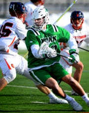 York College's Thomas Pfeiffer, shown here in a game earlier this season, broke the program's career assists record on Saturday. Bill Kalina photo