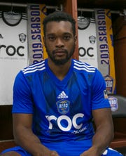 Brian Brown shown at Reno 1868 FC media day at Greater Nevada Field on Wednesday.