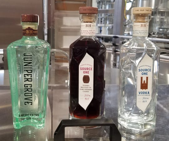 Three spirits available at Bently Heritage Estate Distillery in Minden.