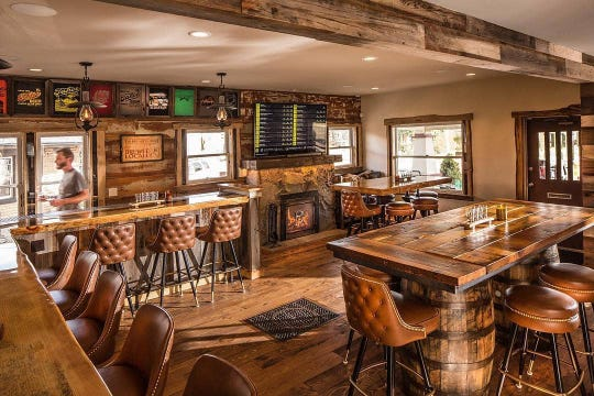 The Brewer's Cabinet Taproom features the brewery's main beer menu plus special releases.
