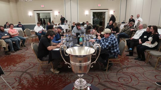 Judges assembled to pick the best beer in the state from the 20 category winners at the New York State Craft Beer Competition in Henrietta on Feb. 22.