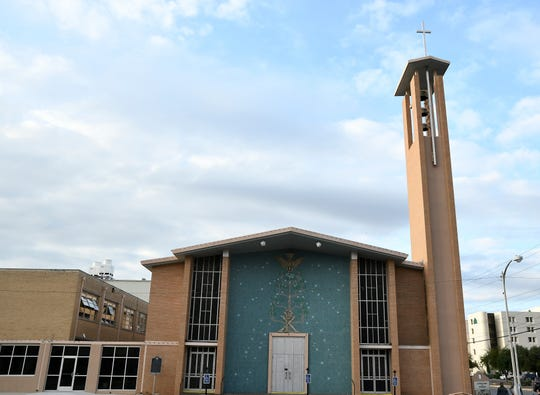 Sacred Heart Cathedral, 20 E. Beauregard Ave, was constructed in 1960-61, and the block has served as home to a Catholic church since 1884.